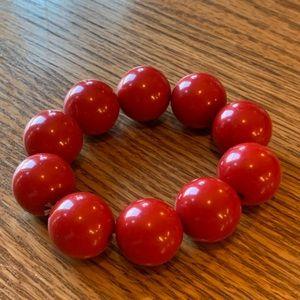💥4/$10💥 Red Chunky Bead Bracelet